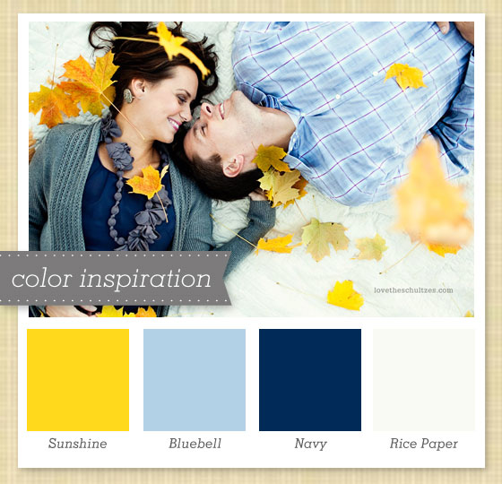 Sarah hearts yellow blue and white color palette 42 for Blue and yellow paint combinations