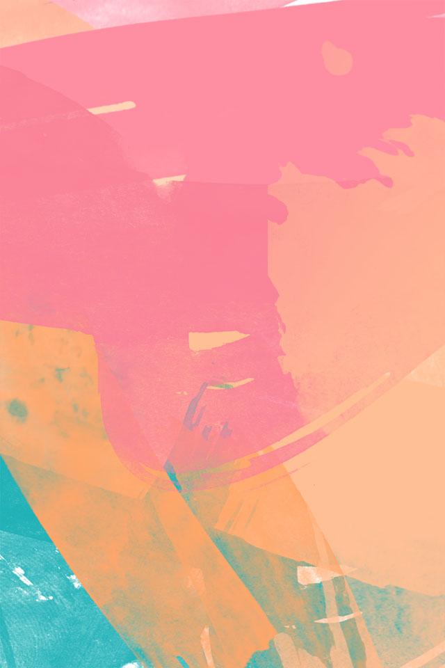 グラデーションが可愛いロック画面壁紙