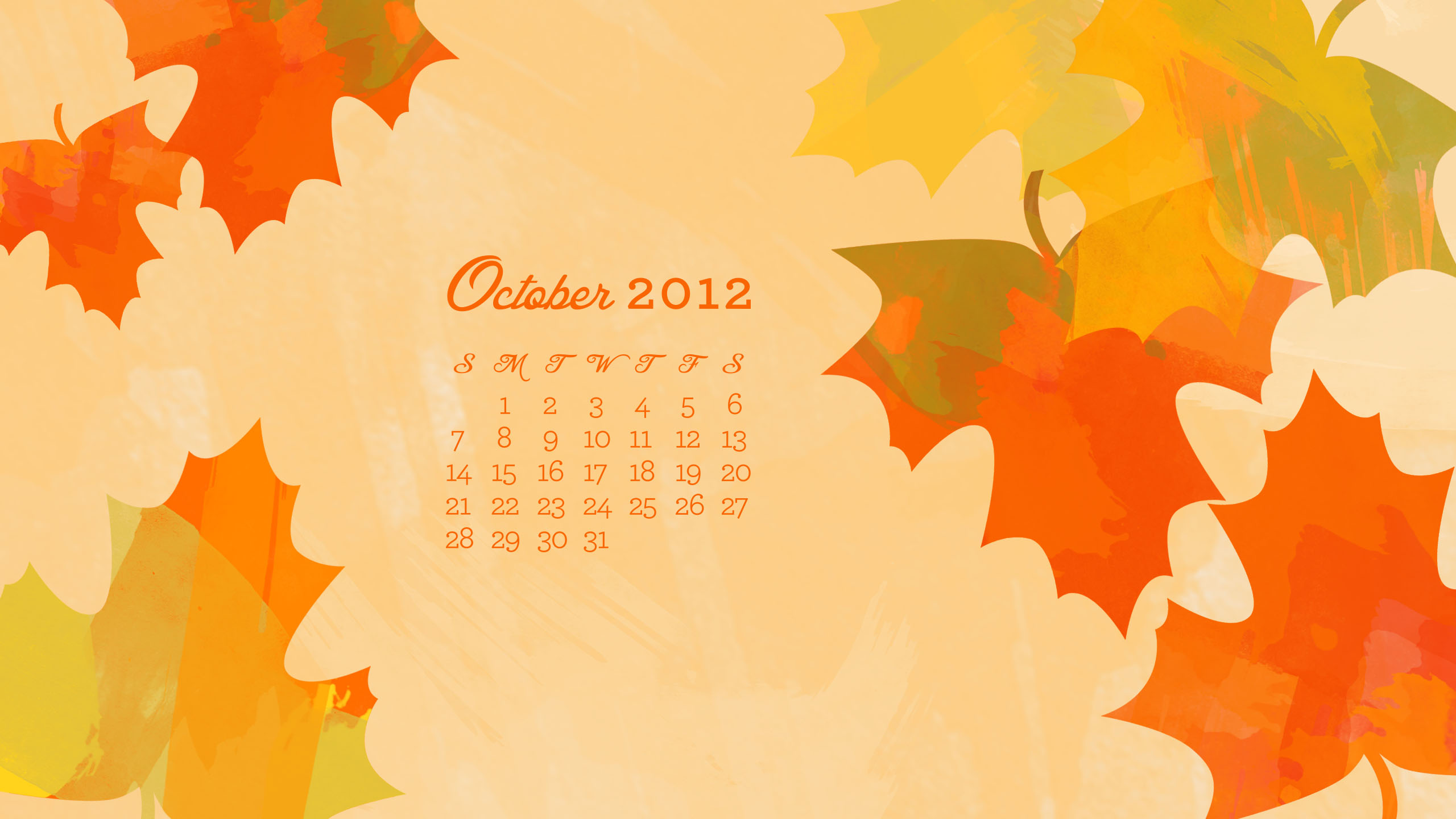Calendar Wallpaper For Iphone : Sarah hearts october desktop iphone ipad